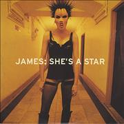 James She's A Star UK CD single Promo