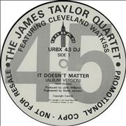 Click here for more info about 'James Taylor Quartet - It Doesn't Matter'