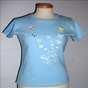 Click here for more info about 'Jamie Cullum - Butterflies T-Shirt - Blue - Small'
