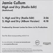 Click here for more info about 'Jamie Cullum - High & Dry'