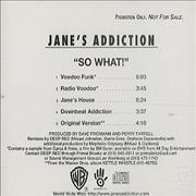 Click here for more info about 'Janes Addiction - So What!'