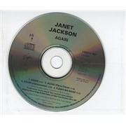 Janet Jackson Again UK CD single Promo