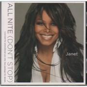 Janet Jackson All Nite (Don't Stop) USA CD single Promo
