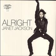 "Janet Jackson Alright UK 12"" vinyl"