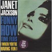 "Janet Jackson Funny How Time Flies - Poster Sleeve UK 7"" vinyl"