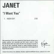 Click here for more info about 'Janet Jackson - I Want You'