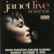 Janet Jackson Janet Live - The Velvet Rope - Badge USA badge Promo