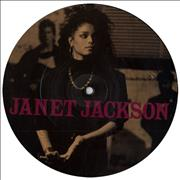 """Janet Jackson Let's Wait Awhile UK 7"""" picture disc"""