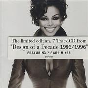 Janet Jackson Limited Edition Cd From Design Of A Decade Australia CD single