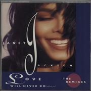 Janet Jackson Love Will Never Do - The Remixes Japan CD single