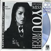 Janet Jackson Miss You Much - Remix Germany CD single