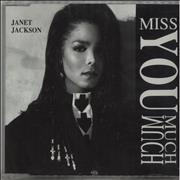 Janet Jackson Miss You Much UK CD single