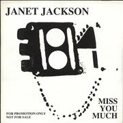 "Janet Jackson Miss You Much Germany 7"" vinyl Promo"