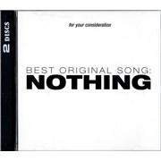 Janet Jackson Nothing USA 2-disc CD/DVD set Promo