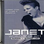 Janet Jackson Number Ones: Up Close & Personal - Tour Itinerary + 5 Passes UK Itinerary Promo