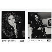 Janet Jackson Promo Photos - Pair Of - Velvet Rope era Mexico photograph Promo