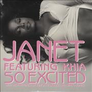 "Janet Jackson So Excited USA 12"" vinyl Promo"