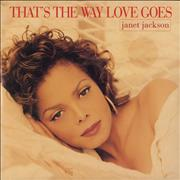 "Janet Jackson That's The Way Love Goes UK 7"" vinyl"