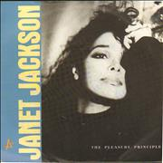 "Janet Jackson The Pleasure Principle Germany 7"" vinyl"