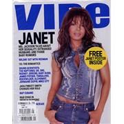 Janet Jackson Vibe Magazine + Poster - Sealed! UK magazine