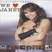 Janet Jackson We Love Janet - All For You Tour + Stickers Japan handbill Promo