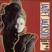 "Janet Jackson When I Think Of You UK 12"" vinyl"