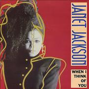 "Janet Jackson When I Think Of You UK 7"" vinyl"