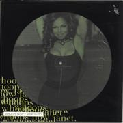 "Janet Jackson Whoops Now + Poster UK 12"" picture disc"