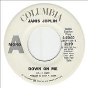 Click here for more info about 'Janis Joplin - Down On Me'