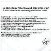 Click here for more info about 'Japan - Japan, Rain Tree Crow & David Sylvian'