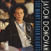 Click here for more info about 'Jason Donovan - Too Many Broken Hearts'