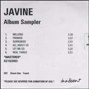 Click here for more info about 'Javine - Album Sampler'