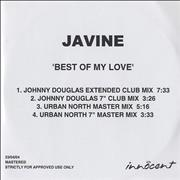 Click here for more info about 'Javine - Best Of My Love - Remixes'