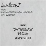 Click here for more info about 'Javine - Don't Walk Away'