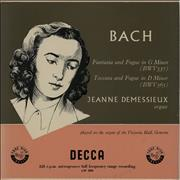 Click here for more info about 'Jeanne Demessieux - Bach: Fantasia And Fugue in G Minor / Toccata And Fugue in D Minor - 2nd'