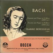 Click here for more info about 'Jeanne Demessieux - Bach: Fantasia And Fugue in G Minor / Toccata And Fugue in D Minor - 1st'