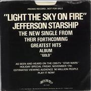 Click here for more info about 'Jefferson Starship - Light The Sky On Fire + Promo Sleeve'