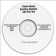 Click here for more info about 'Jessica Garlick - Come Back'