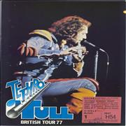 Click here for more info about 'Jethro Tull - British Tour 77 + Stub'