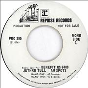 "Jethro Tull Radio Spot For: Benefit USA 7"" vinyl Promo"