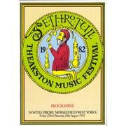 Jethro Tull Theakston Music Festival UK tour programme