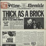 Jethro Tull Thick As A Brick - 2nd UK vinyl LP