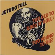 Jethro Tull Too Old To Rock 'n' Roll - 1st South Africa vinyl LP