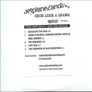 Click here for more info about 'Jetplane Landing - Once Like A Spark - Club Sampler'