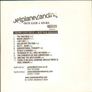 Click here for more info about 'Jetplane Landing - Once Like A Spark - Promo Bundle'