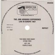 """Jimi Hendrix Live In Europe 1967 - Sealed UK 7"""" vinyl"""