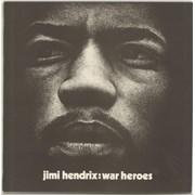 Jimi Hendrix War Heroes - Correction Stickered UK vinyl LP