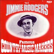 Jimmie Rodgers (Country) Famous Country-Music Makers - Vol. 2 UK 2-LP vinyl set