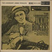 """Jimmie Rodgers (Country) The Legendary Jimmie Rodgers UK 7"""" vinyl"""