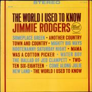 Jimmie Rodgers (Country) The World I Used To Know USA vinyl LP